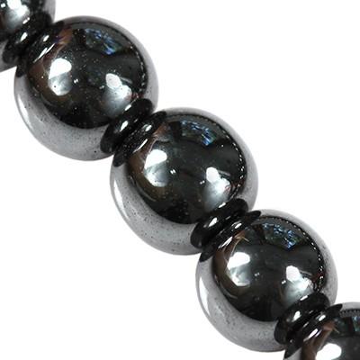Hämatit perlen 8 mm / Halbedelstein synthetisch