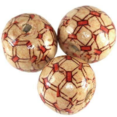 round wooden beads rectangles 19 mm