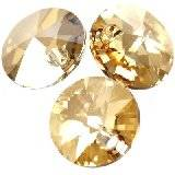 Swarovski rivoli pendants crystal golden shadow 8 mm