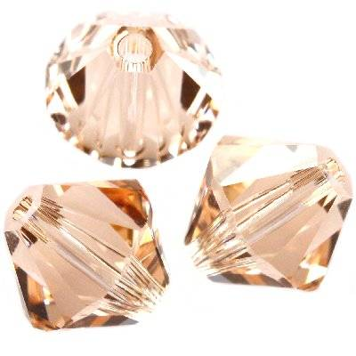 Swarovski bicone beads light peach 6 mm