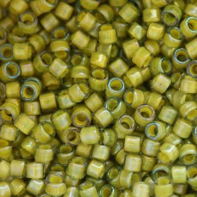 Toho beads treasure inside-color luster black diamond/opaque yel 1,8 mm TT-01-246