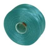 S-lon bead cord tex 35 turquoise blue