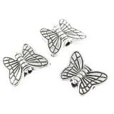 papillons en métal décoratives 10.2 mm
