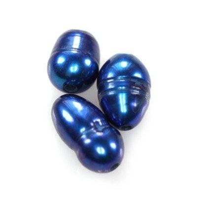 perle d'acqua dolce 4 x 6 mm blu