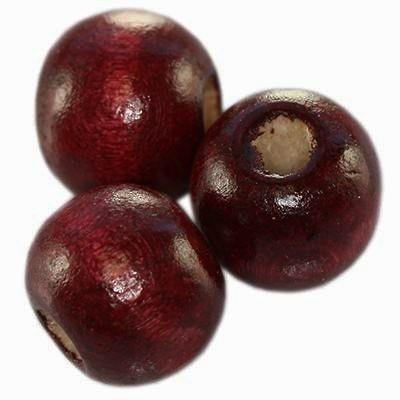 perles rondes en bois