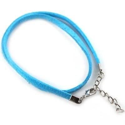 basis ketting fluweel blauw