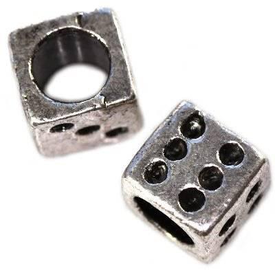 koraliki modułowe kostka do gry 8 x 8 mm