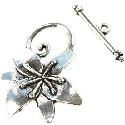 zapięcia lilie półfabrykaty do wyrobu biżuterii