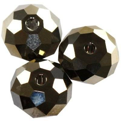 Swarovski briolette beads crystal metallic light gold 8 mm