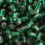 perline Toho hex silver-lined green emerald 2 mm TH-11-36