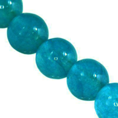 jade beads aqua 4 mm / semi-precious stone dyed