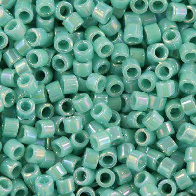Miyuki Delica beads opaque turquoise ab 1.6 x 1.3 mm DB-166