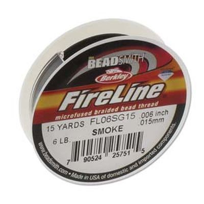 Fireline thread 6lb smoke 0.15 mm
