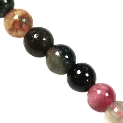 colorful tourmaline beads 4 mm / semi-precious stone
