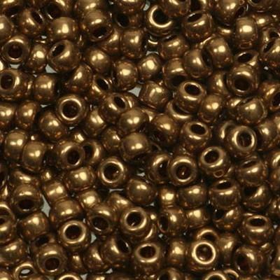 Miyuki round beads metallic dark bronze 8/0 #8-457