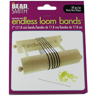 endless loom bands 7 inch black
