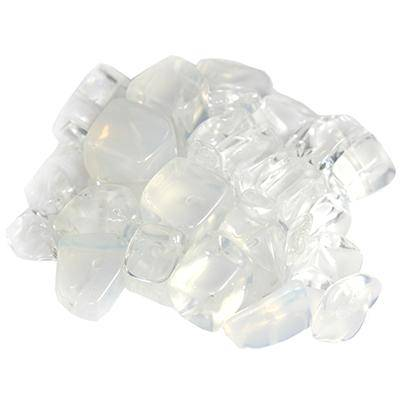 white opal big chips / semi-precious stone synthetic