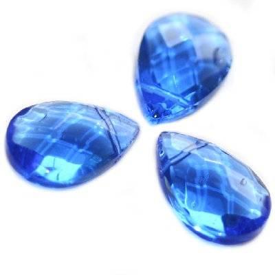 łezki szlifowane niebieskie 12 x 18 mm