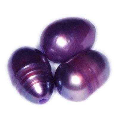 perełki słodkowodne 4 x 6 mm śliwkowe