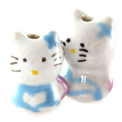 cat porcelain blue 13 x 18 mm
