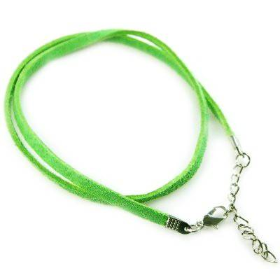 necklace velvet cord green
