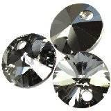 Swarovski rivoli pendants crystal silver night 8 mm