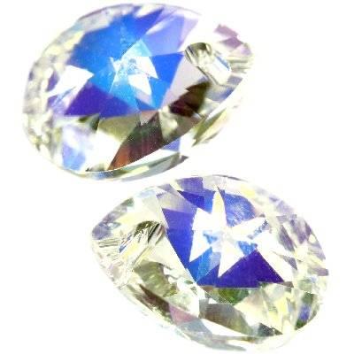 Swarovski xilion pear pendants crystal ab 8 mm