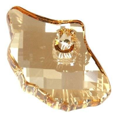 Swarovski ginko pendants crystal golden shadow 13.5 x 20.0 mm