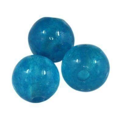 jadeit błękitny 6 mm kamień naturalny barwiony