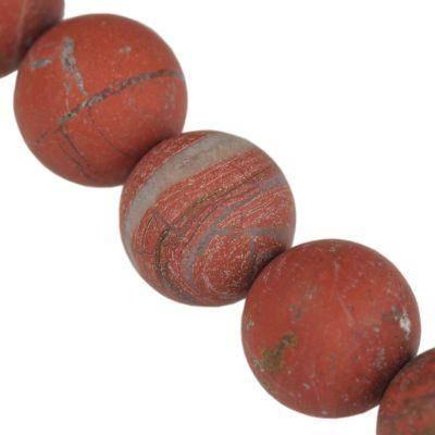 Jaspis mat red jasper 8 mm / Halbedelstein gefärbt
