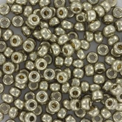 Miyuki round beads duracoat galvanized light pewter 8/0 #8-4221