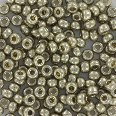 Perline Miyuki round duracoat galvanized light pewter 8/0 #8-4221
