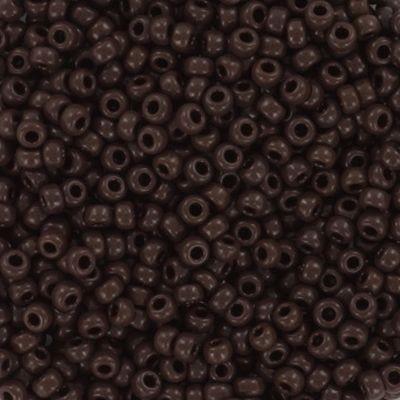Miyuki kralen round opaque red brown 11/0