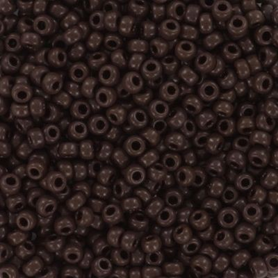 Miyuki perle round opaque red brown 11/0 #11-419