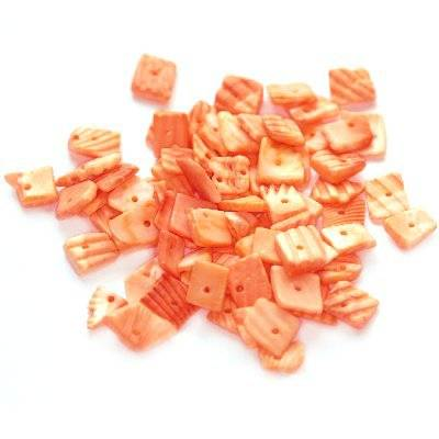 muszle kwadraty prążki cięte morelowe 0.8-1.5 cm