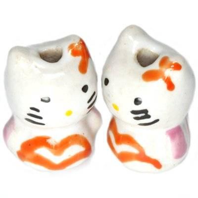 cat porcelain orange 13 x 18 mm