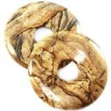 zawieszki okrągłe jaspis krajobrazowy 40 mm kamień naturalny