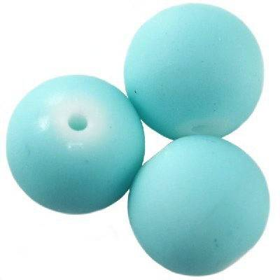 glass beads rubber coated azure 10 mm