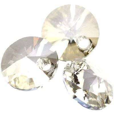 Swarovski rivoli pendants crystal silver shade 8 mm