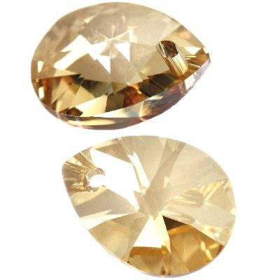 Swarovski xilion pear pendants crystal golden shadow 8 mm