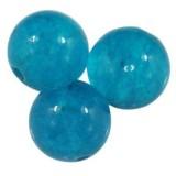 jadeit błękitny 8 mm kamień naturalny barwiony