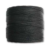nici S-LON Tex 210 0.5 mm black - nić do beadingu