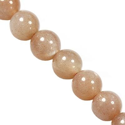 sun stone beads 4 mm / semi-precious stone