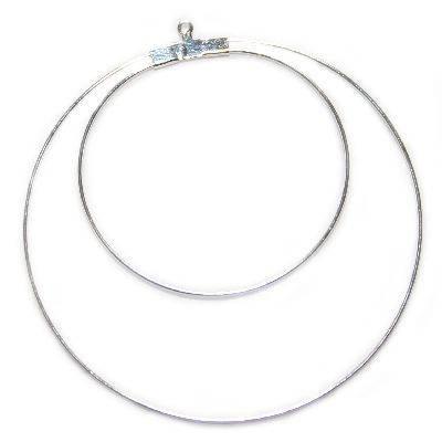 висулка гладка двойна кръг 6.3 см