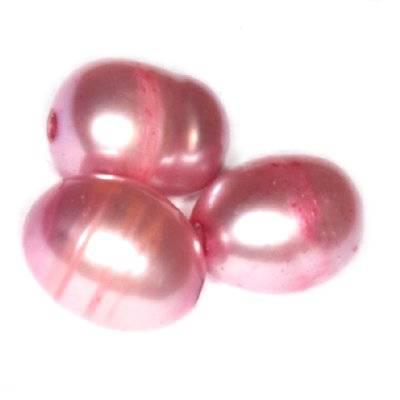 perełki słodkowodne 4 x 6 mm liliowe