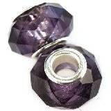 modular beads crystal blueberry 10 x 14 mm