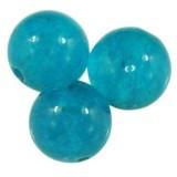 jadeit błękitny 10 mm kamień naturalny barwiony