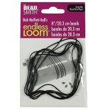 endless loom bands 8 inch black