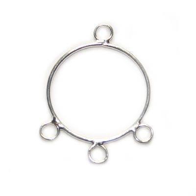 prívesok hladký kruh s výstupmi 2,2 cm