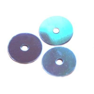 flitre krémovo - dúhové kruhy hladké modré 8 mm